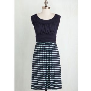 Modcloth Mint and Navy Dress